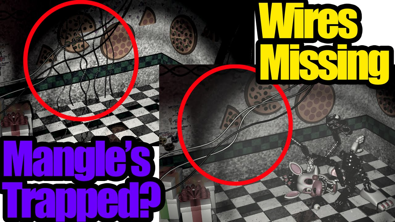 Wires disappear! Was Mangle trapped? Five nights at Freddy\'s 2 ...
