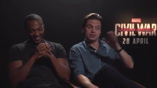 Anthony Mackie and Sebastian Stan spill on the question they