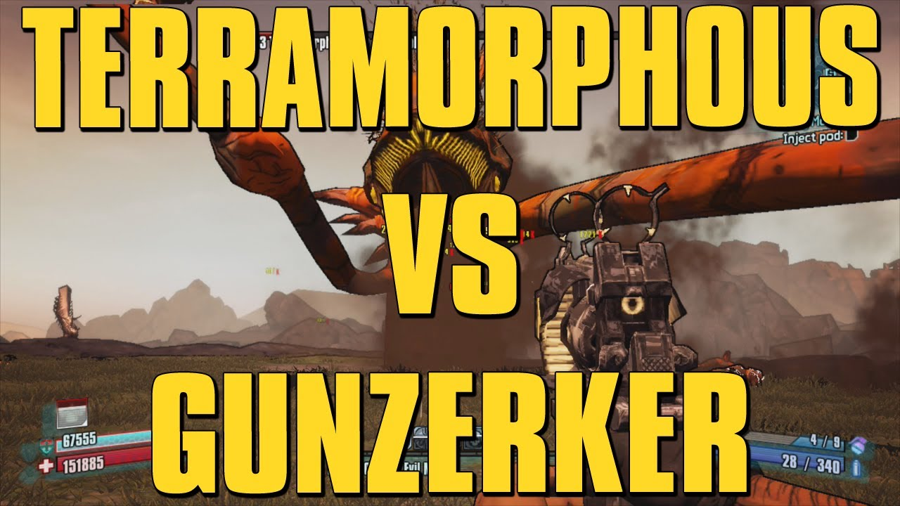 Best gunzerker build for terramorphous the invincible solo
