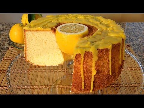 How To Make Lemon Chiffon Cake Meringue-Baking Food Recipes Holiday