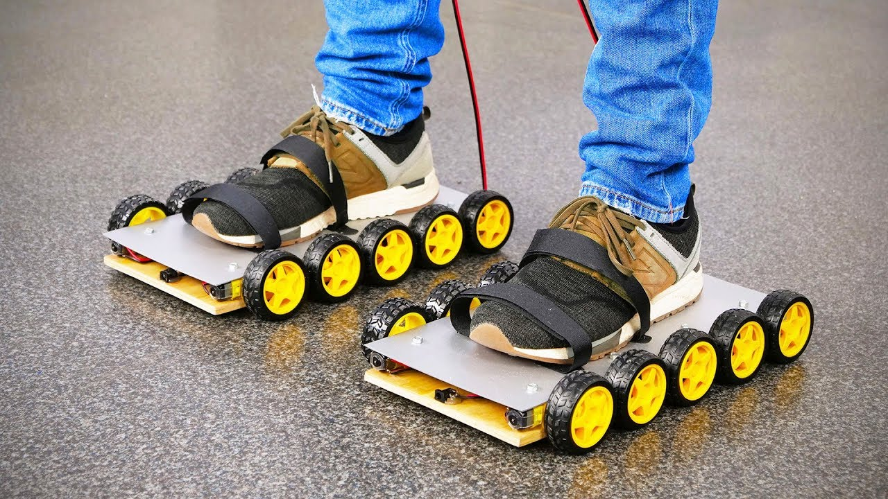 c0d8b293dfd0c8 DIY Electric Roller Skate Shoes at Home - YouTube
