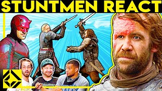 Stuntmen React To Bad & Great Hollywood Stunts 16