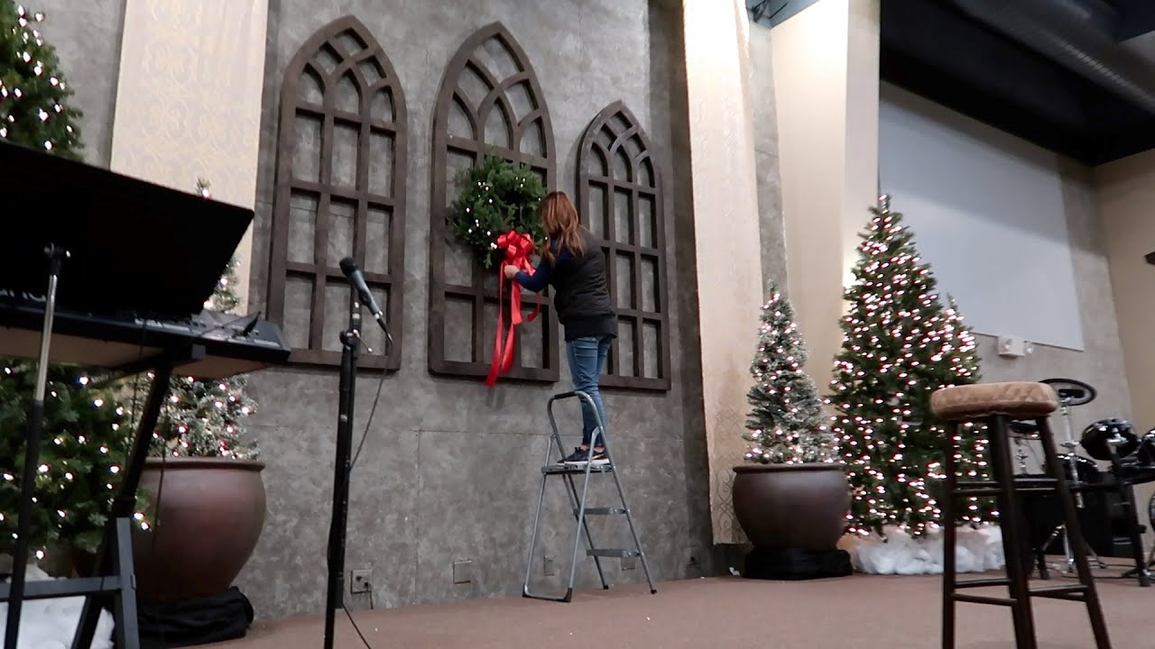 Decorating Our Church For Christmas Garden Answer Youtube