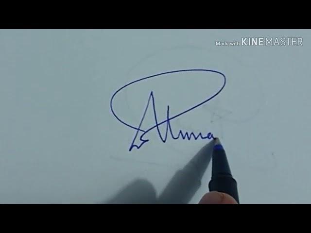 توقيع باسم احمد بالعربي والانجليزي Youtube