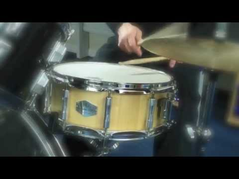 "DRUM ART SNARE DRUM SPRUCE 1.06"" thick shell demo on Zoom Q3"