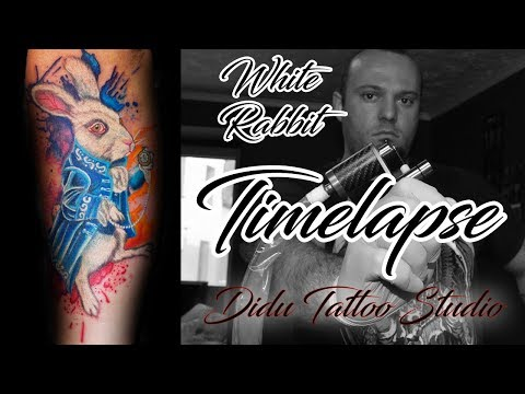 Tattoo Timelapse #4 - White Rabbit from Alice in Wonderland