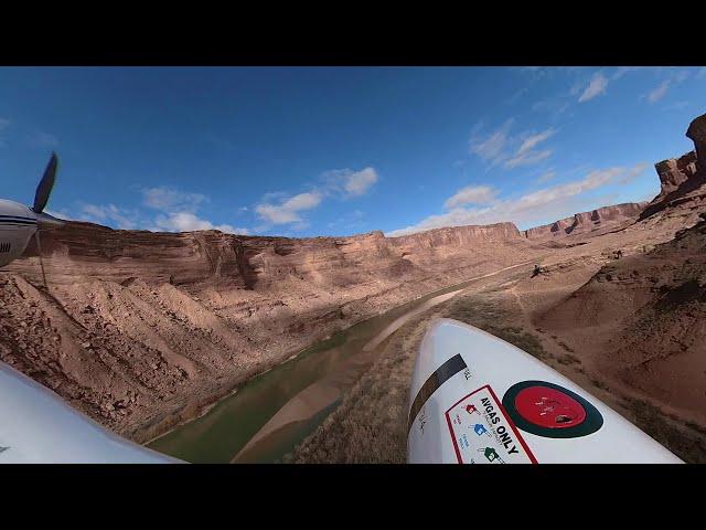 Take off Mineral Canyon Airstrip on my Bonanza V35B