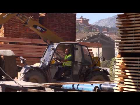 Rental Solutions For The Wood Industry: Cat® Telehandler - Sawmill-Spain