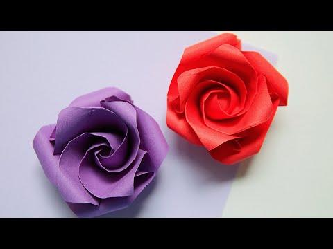 DIY 27 | 🌹 Origami Rose 🌹 - Beautiful Kawasaki Rose