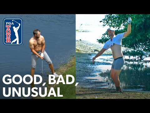 Shirtless shots, Phil's TV tower flop shot and Vijay putts into the water
