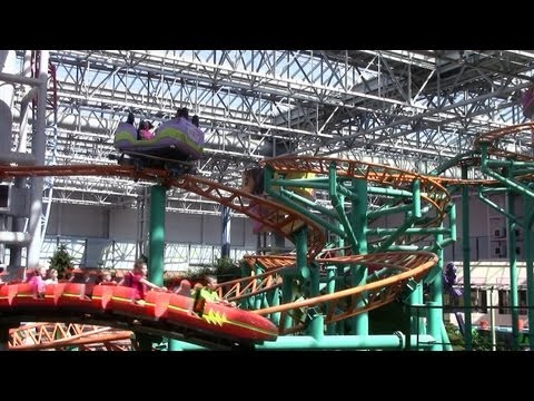 Fairly Odd Coaster off-ride HD Nickelodeon Universe
