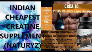 BEST & CHEAPEST CREATINE SUPPLEMENT REVIEW   NATURYZ CREA10 CREATINE SUPPLEMENT