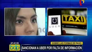 Indecopi multa con más de 50 mil soles a Uber Perú