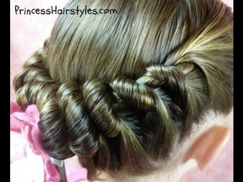 spiral braid ponytail twist hairstyles