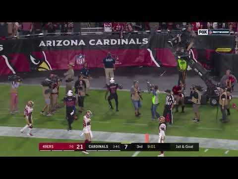 Off balance touchdown pass by Kyler Murray