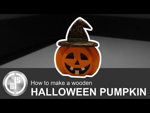 How to make a wooden Halloween Pumpkin