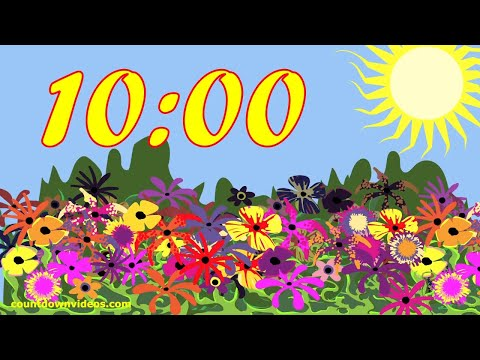 10 Minute Colorful Spring Timer ? Happy Background Music ♬