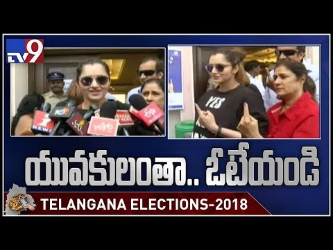 Tennis star Sania Mirza casts vote - Telangana Elections 2018 - TV9