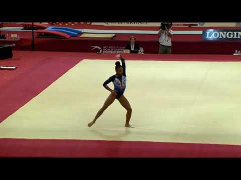 Melanie De Jesus Dos Santos (FRA) Floor Event Finals 2018 Doha World Championships