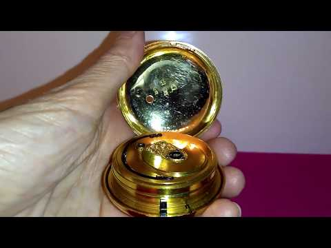 How To Open A Paired Case Fusee Pocket Watch / Joseph Jonson Liverpool Pocket Watch