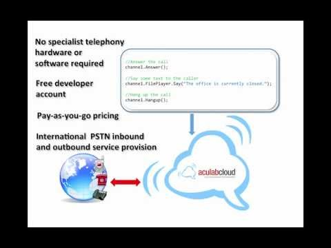 A simple telephony application