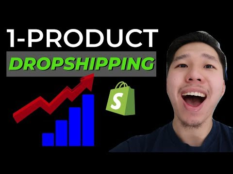 How To Build A One Product Dropshipping Store with Shopify Step by Step Tutorial (2019) thumbnail
