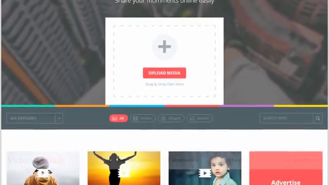Best HTML Templates For Video Sharing Video Tube Video Publishing - Photo sharing website template