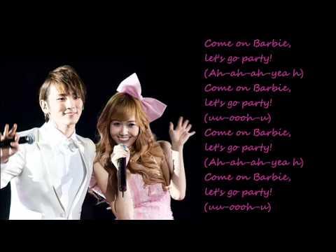 Jessica (SNSD)  ft. Key (SHINee) - Barbie Girl / with lyrics on screen