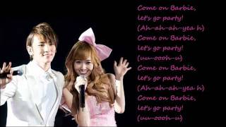Jessica (SNSD)  ft. Key (SHINee) - Barbie Girl / with lyrics on screen