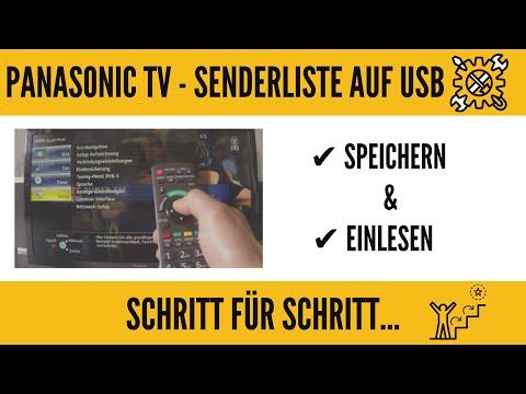 Panasonic TV Senderliste Abspeichern und Einlesen auf USB! GANZ EINFACH!