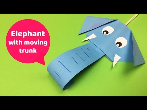 Easy Diy For Kids Fun Elephant With Moving Trunk Youtube