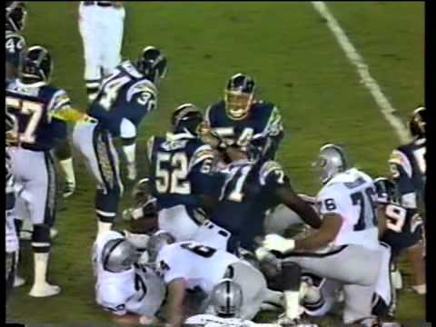 Raiders vs. Chargers football, 1987