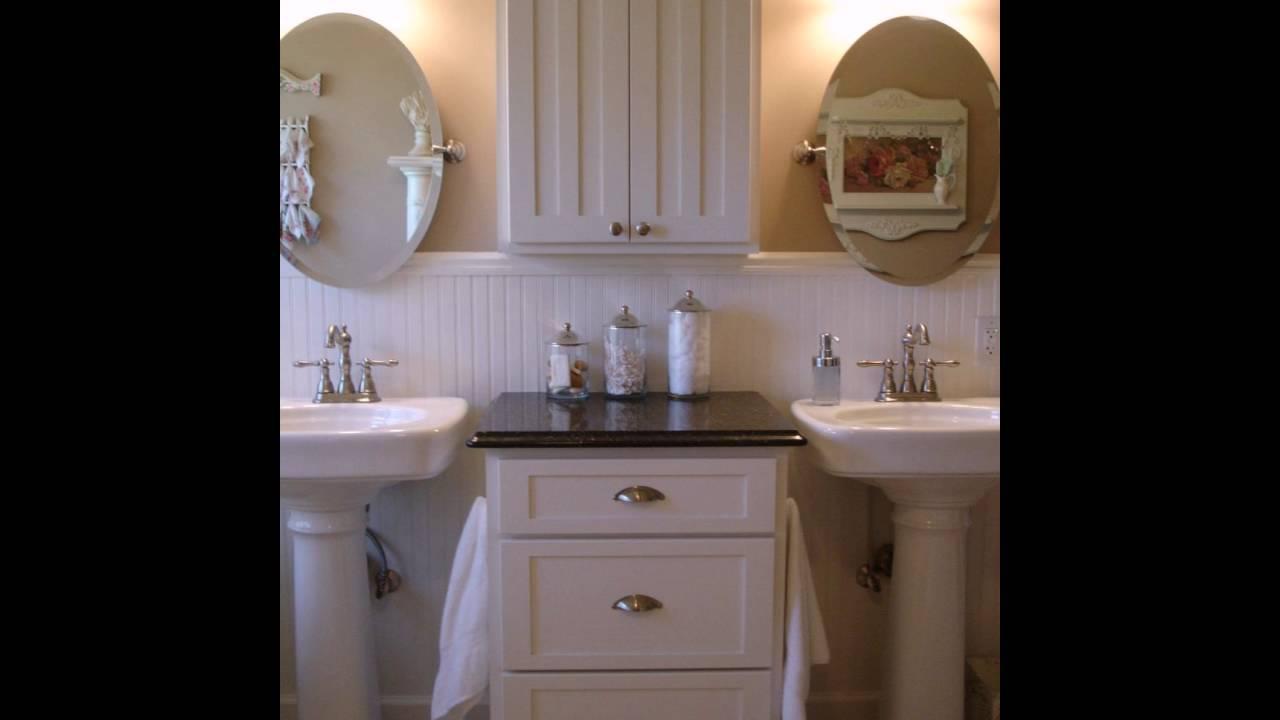 shabby chic badezimmer youtube. Black Bedroom Furniture Sets. Home Design Ideas