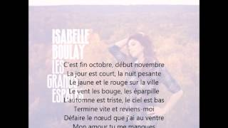 Gambar cover Isabelle Boulay - Fin octobre, début novembre (avec paroles)