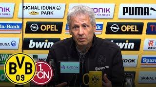 Youngster-Show beim 7:0-Spektakel   Pressekonferenz mit Lucien Favre   BVB - 1. FC Nürnberg 7:0