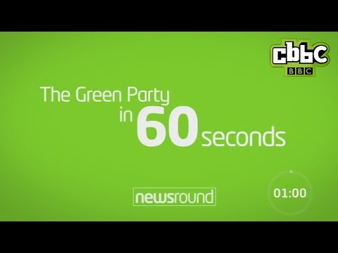 The Green Party in 60 seconds - CBBC Newsround