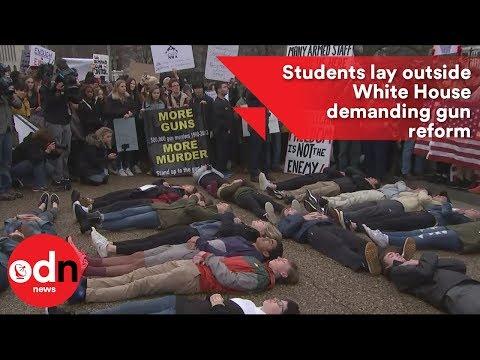 Students lay outside White House demanding gun reform