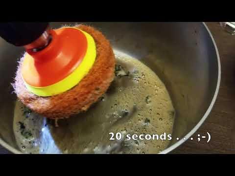 I burned my kale. How I saved my all clad pot with Scrubza!