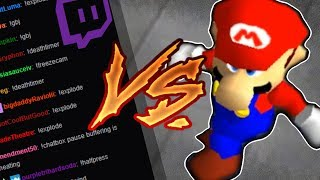Twitch VS Streamer - Viewers Control Cheats During SM64 Speedrun