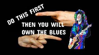 Pentatonic Shape #1 Blues Guitar Trick! With Chart