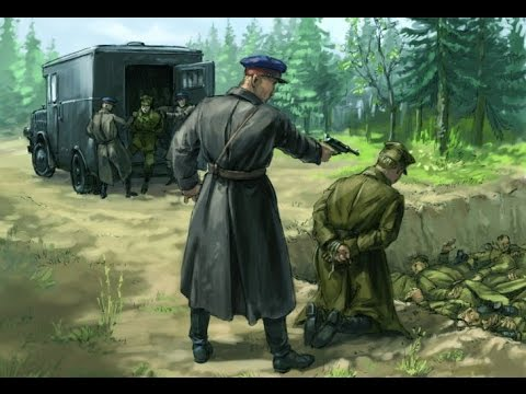 Nazi Germany & Soviet Russia war crimes against Poland, 1939-45 * Refined & Colored * Graphic!