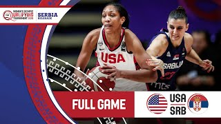 Usa V Serbia - Full Game - Fiba Women's Olympic Qualifying Tournament 2020