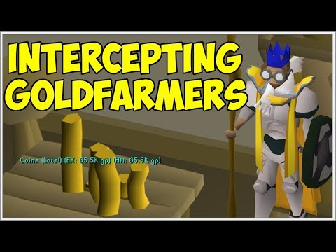 How I Made 1.5b In Just 2 Weeks - OSRS Intercepting Goldfarmers