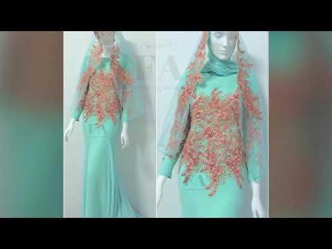 Wedding Dress by FashionArora — Dress Tiffany Green & 3D Lace Peach ...