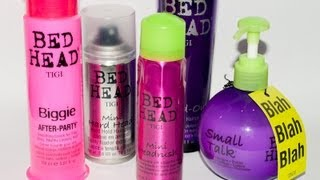 REVIEW - 8 Produits Tigi (Bed Head) au banc d