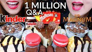 MOST POPULAR DESSERTS (Nutella Cheesecake, Crepe Cake, Magnum Ice Cream, Maltesers) | Kim&Liz ASMR