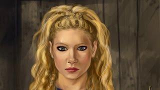 Лагерта из сериала Викинги | Цифровая Живопись | Розыгрыш портрета