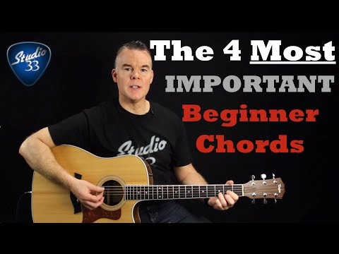 Beginner Guitar Chords- The 4 MOST Important Chords You Must Know ...