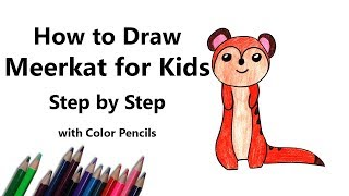 How to Draw a Meerkat for Kids Step by Step - very easy
