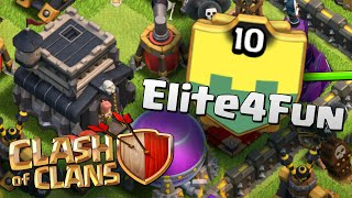 Ataques de CV9 na Guerra do Elite4Fun - Clash of Clans
